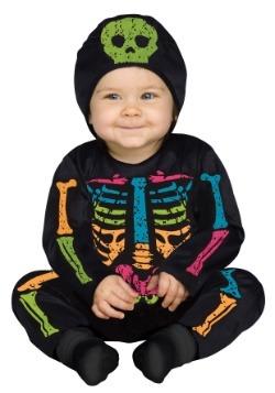Disfraz mameluco de huesos de color para bebé