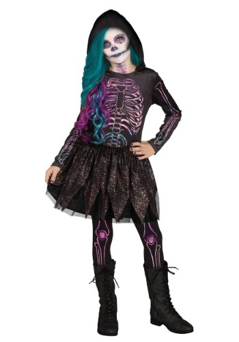 Disfraz de esqueleto de galaxia para niña