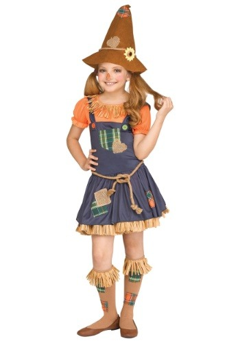 Disfraz de espantapájaros dulce para niñas