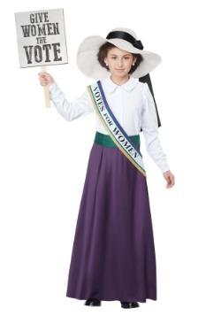 Disfraz de sufragista estadounidense para niñas
