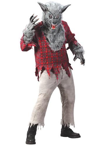 Disfraz de hombre lobo plateado