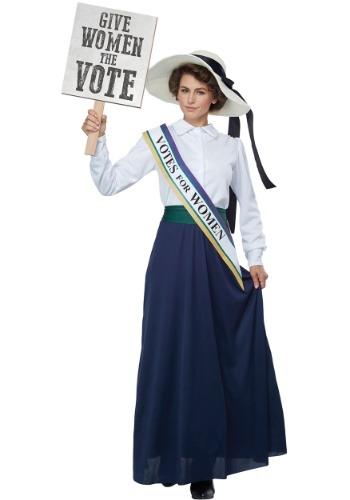 Disfraz de sufragista americana de las mujeres