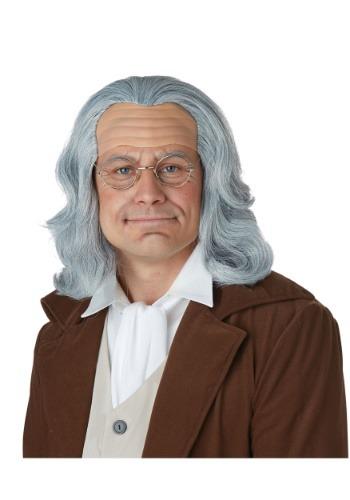 Peluca Benjamin Franklin para adultos