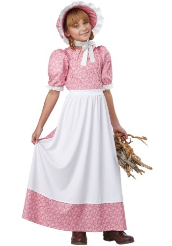 Disfraz de primeras chicas estadounidenses para niña