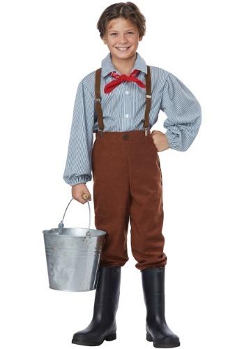 Disfraz de chico pionero del niño