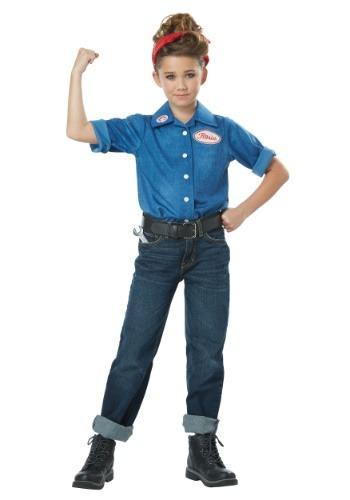 Disfraz de Rosie the Riveter para niña
