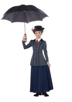 Disfraz de niñera inglesa de niña