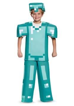 Disfraz de armadura infantil de Minecraft Prestige
