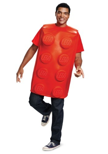 Disfraz de LEGO Red Brick para adultos