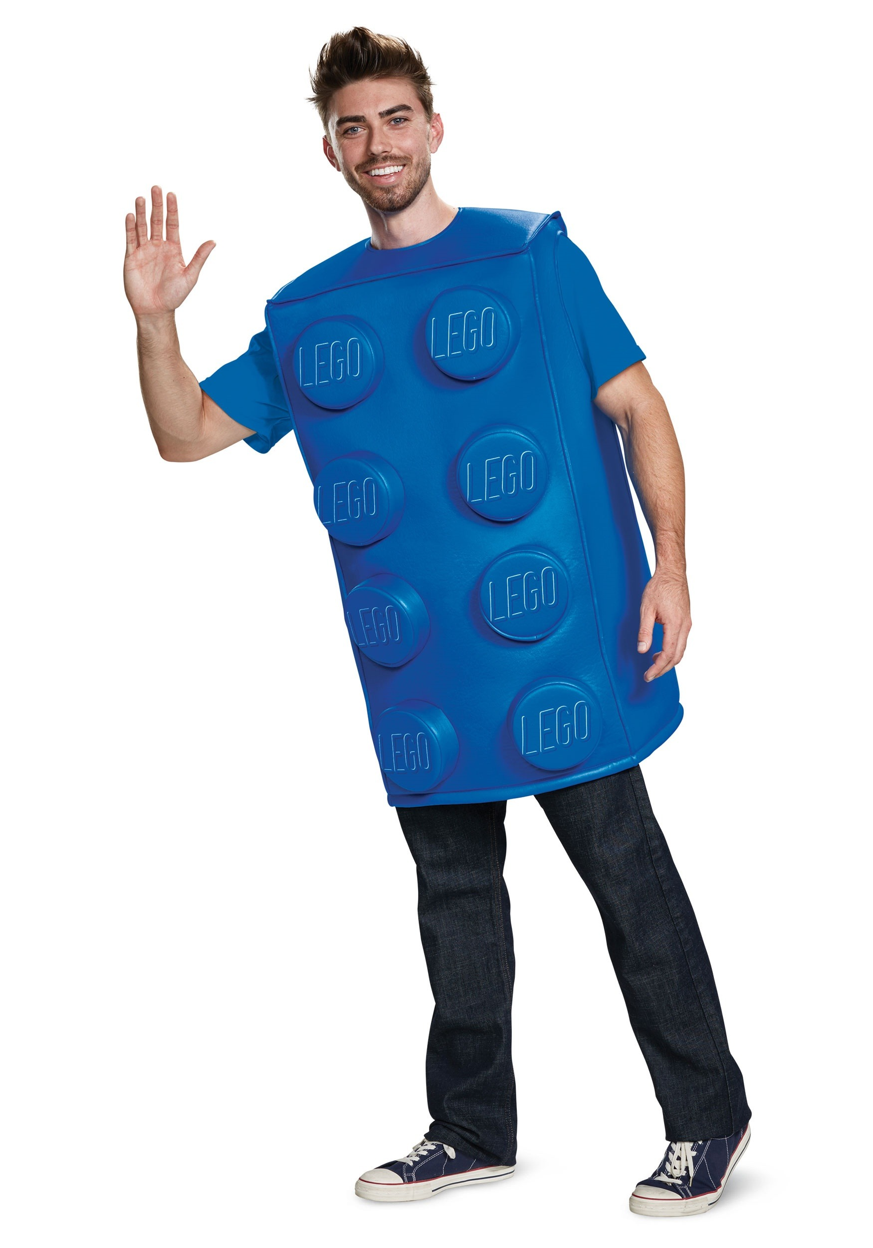 9ebdcec4 Disfraz de pieza azul de LEGO para adulto