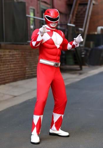 Disfraz de guardabosques rojo Power Rangers adulto Update
