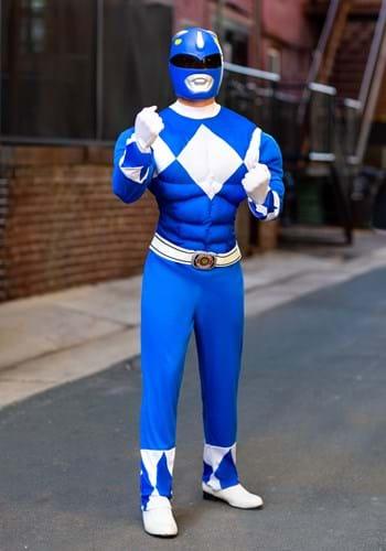 Disfraz de guardabosques Blue Ranger para hombre