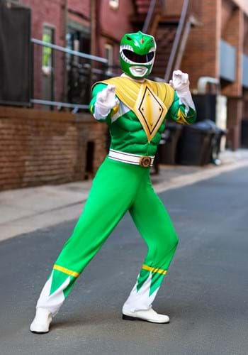 Disfraz de Ranger verde de los hombres de Power Rangers Upda