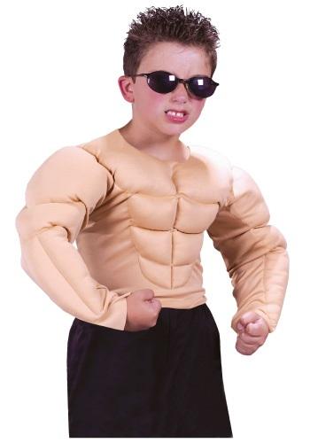 Camisa infantil de pecho musculoso