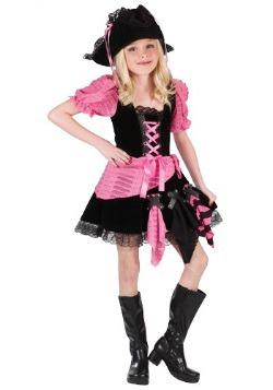 Disfraz de pirata rosa para niños