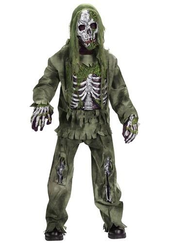 Disfraz de esqueleto zombie para niños