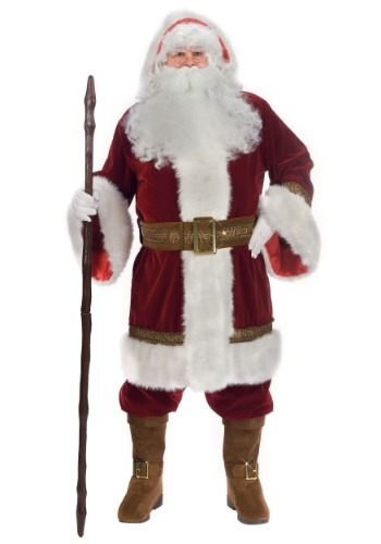 Disfraz de Santa clásico talla extra