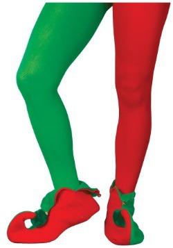 Medias de elfo rojo y verde