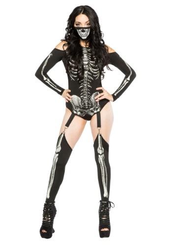 Disfraz de esqueleto de mujer