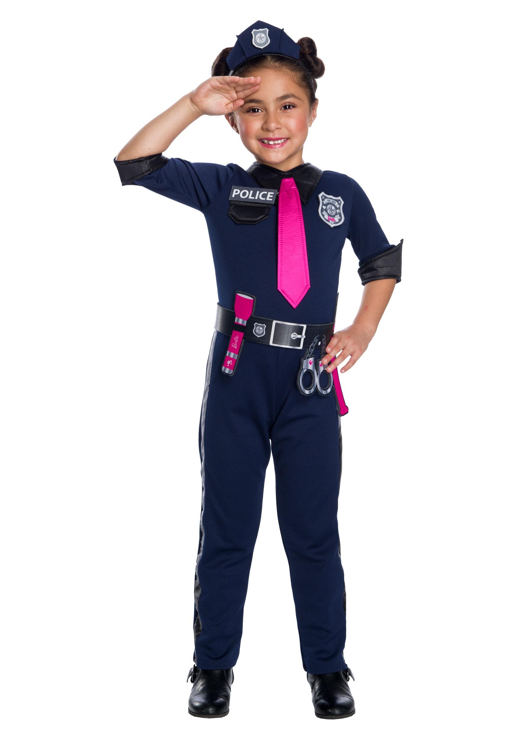 04960ad68 Disfraz para niña de Barbie policía