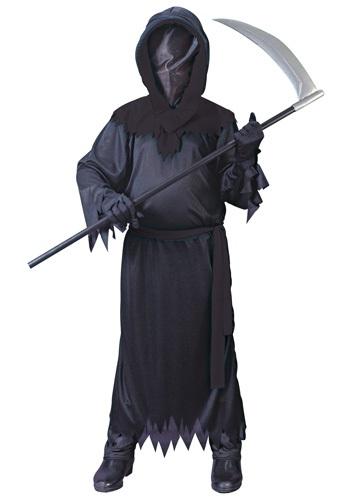 Disfraz de fantasma negro sin rostro infantil