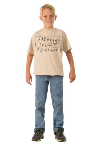 Camisa del alfabeto de cosas extrañas para niños