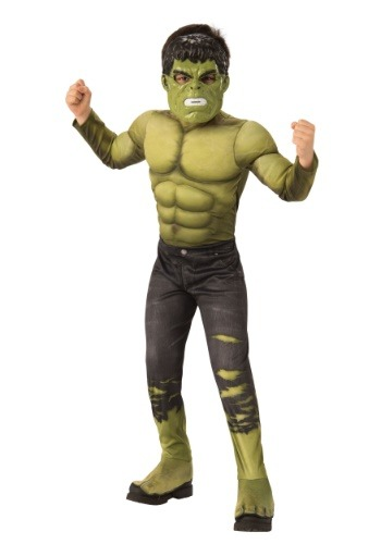 Disfraz de Marvel Child's Infinity War Deluxe Hulk