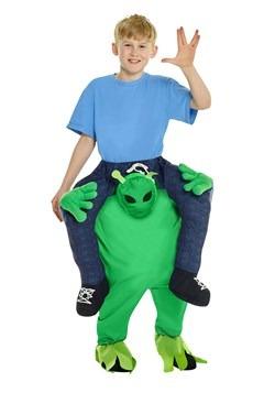 Disfraz a caballo de niño alienígena