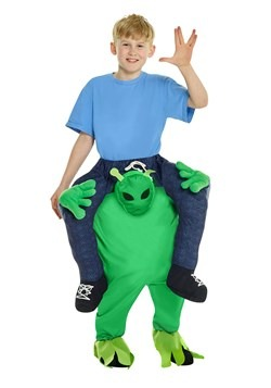 Disfraz a caballo de niño alienígena-1