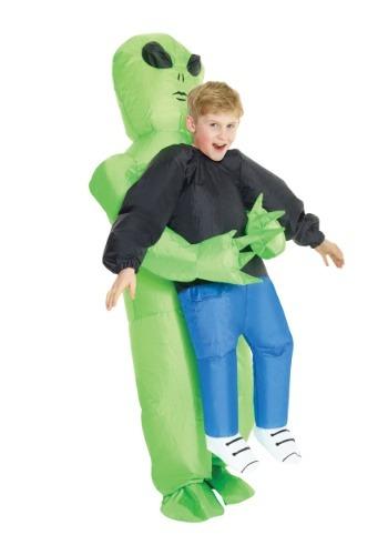 Disfraz infantil inflable de montar de alienígena