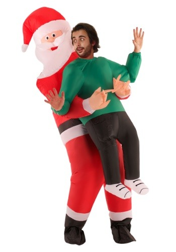 Adulto inflable Santa Pick Up traje