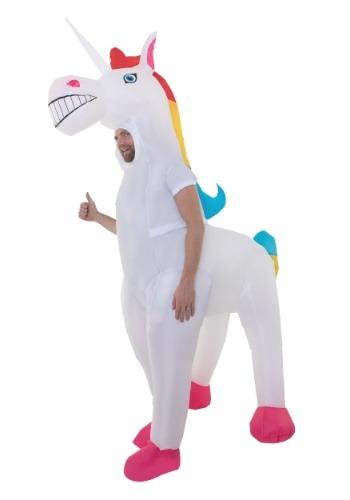Disfraz de unicornio gigante adulto inflable