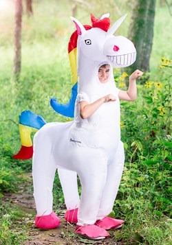 Disfraz infantil de unicornio inflable