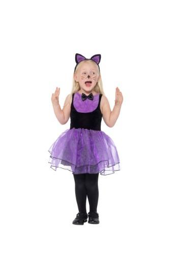 Disfraz de gato púrpura para niños pequeños