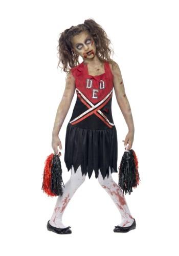 Disfraz de animadora zombie de niña