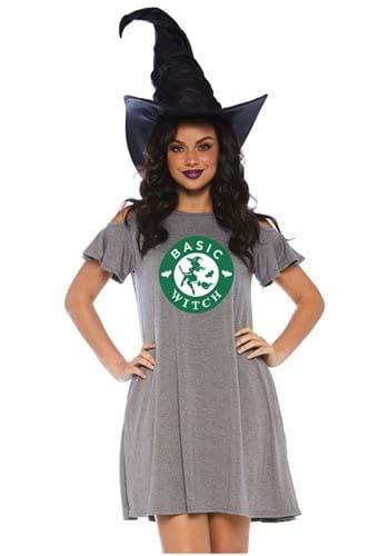 Vestido jersey básico de bruja para mujer