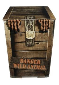 Hombre lobo animado en una caja