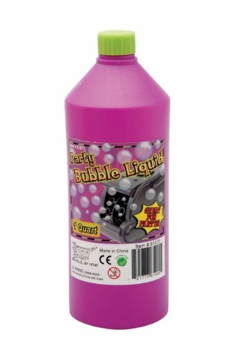 Cuarto de galón de líquido para burbujas