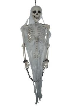 Decoración animada de esqueleto parlante