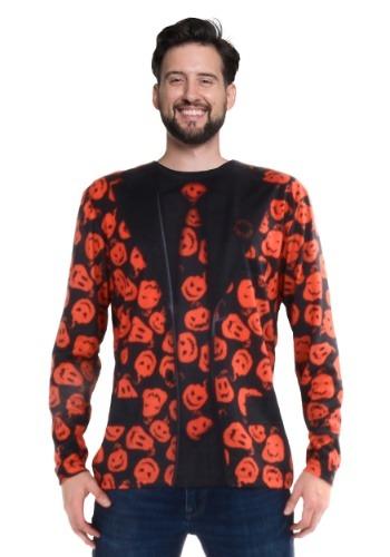 Camiseta de disfraz de manga larga SNL David S Pumpkins