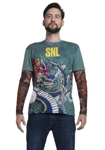 SNL Stefon Tattoo manga larga traje camiseta