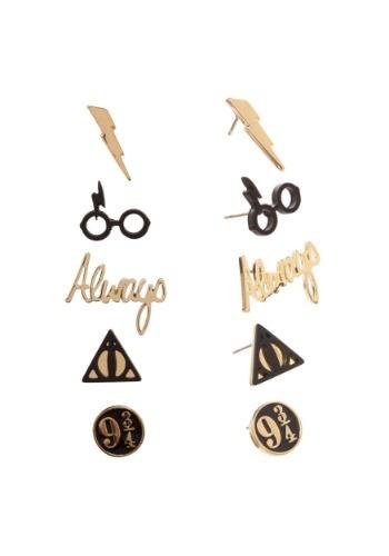 Juego de 5 pendientes de Harry Potter