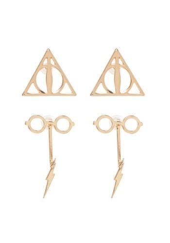 Conjunto de pendientes de doble caída de Harry Potter