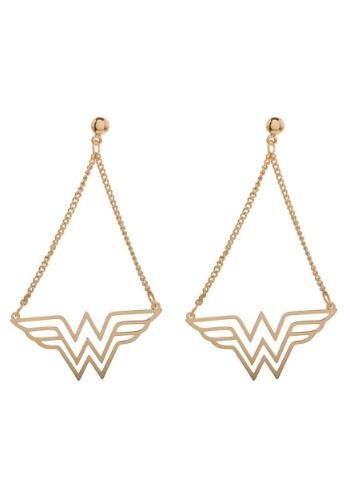 Pendientes colgantes de Mujer maravilla de DC Comics