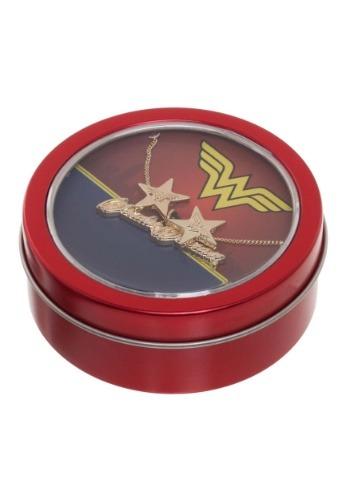 Collar y aretes de Wonder Woman Estaño de regalo