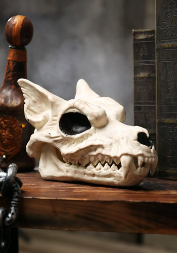 """Decoración de Halloween de 7 """"Wolf Skull"""