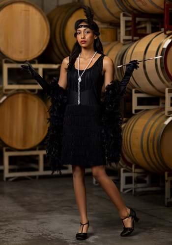 Disfraz de aleta negra de 1920's Flapper