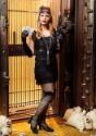 Disfraz con flecos negros de los años 20