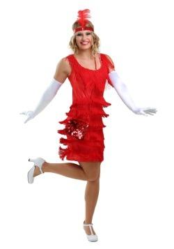 Vestido de moda con solapa roja