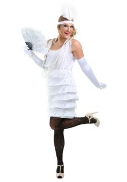 Vestido estilo flapper blanco para niña